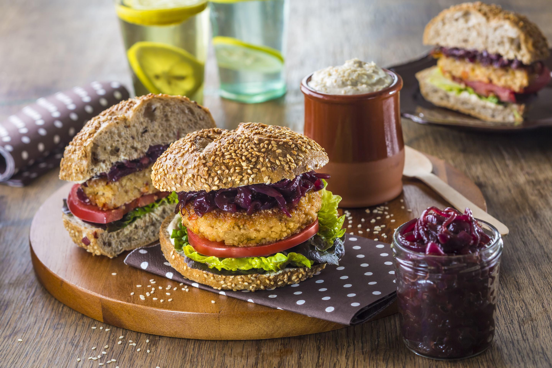 Burger - Kasza jeczmienna z soczewica