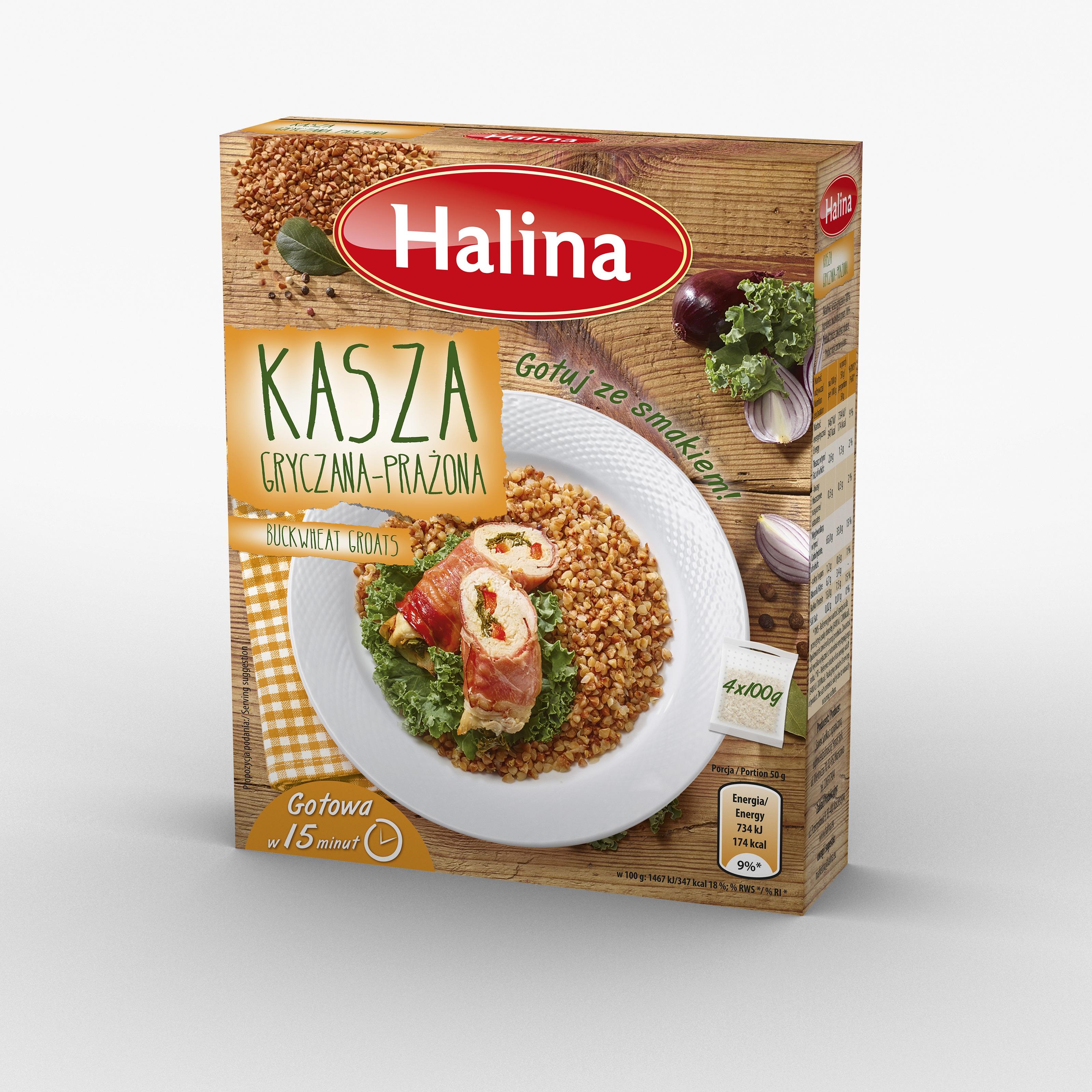Kasza gryczana prażona marki Halina